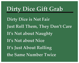 Dirty Dice Christmas Gift Grab Game - Holiday Game Ideas