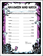 Printable Halloween Mind Match