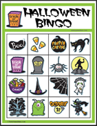image regarding Halloween Bingo Printable named Children Halloween Picture Bingo - Printable 4x4 Bingo Video games