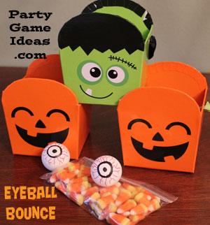 Halloween Eyeball Bounce, Childrens Halloween Games