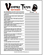 vampire trivia - Halloween Monster Trivia