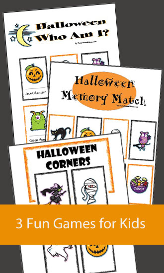 Halloween Games - 3 Pack - Halloween Corners, Memory Match, Who Am I?