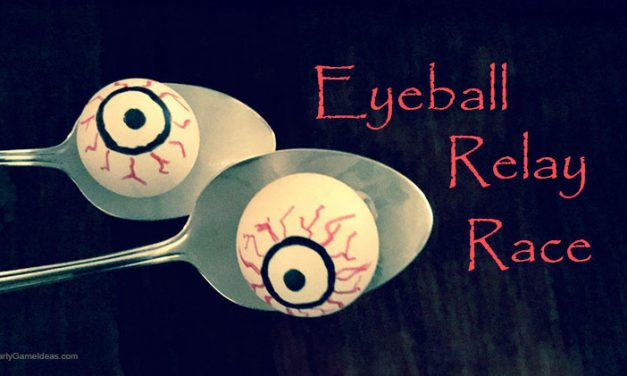 Halloween Eyeball Relay Race
