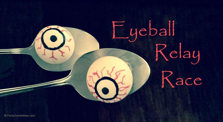 Halloween Eyeball Relay Race