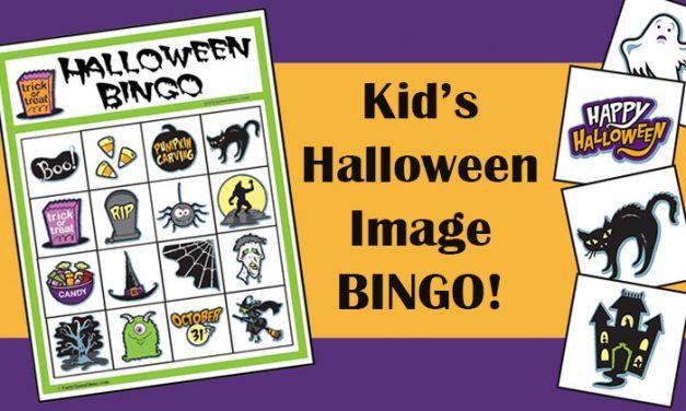 Kids Halloween Image Bingo