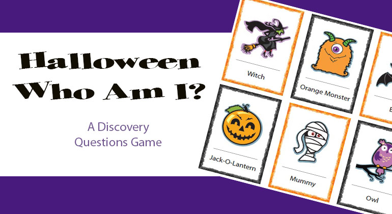 photo regarding Printable Holloween Games called Halloween Who Am I? Small children Do it yourself and Printable Online games