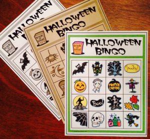 Halloween Kids Bingo - Print Options