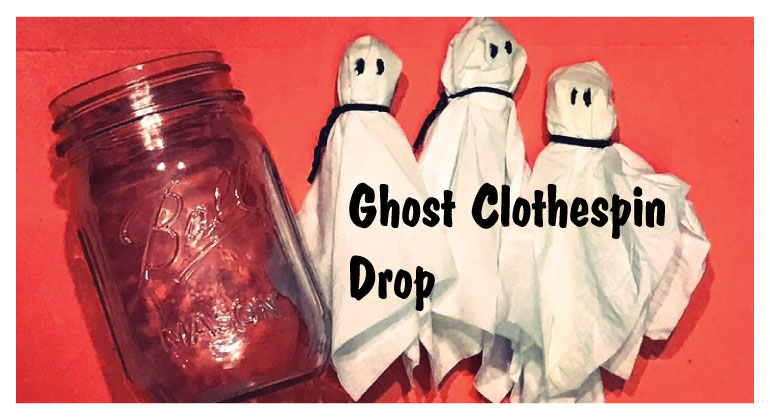 Ghost Clothespin Drop