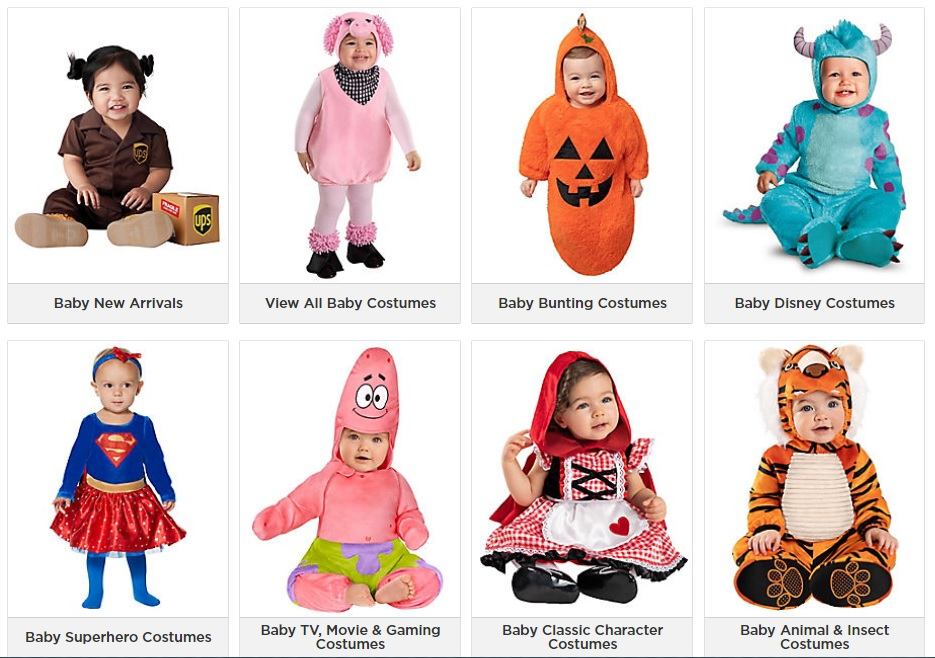 Baby and Infant Halloween Costumes