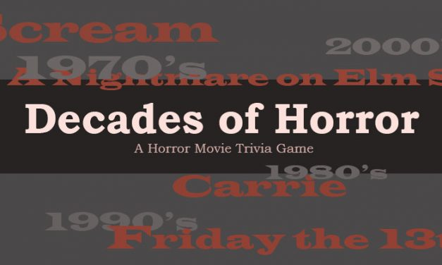 Decades of Horror Movie Trivia Game