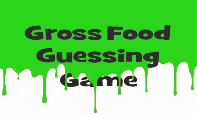 Halloween Gross Food Guess