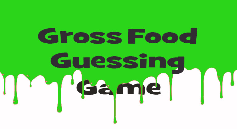 Halloween Gross Food Guess