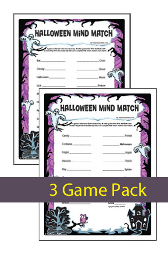 halloween mind match printable halloween party game