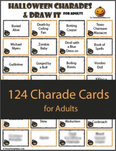 124 Halloween Charades for Adults