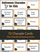 Kids Halloween Charades Game