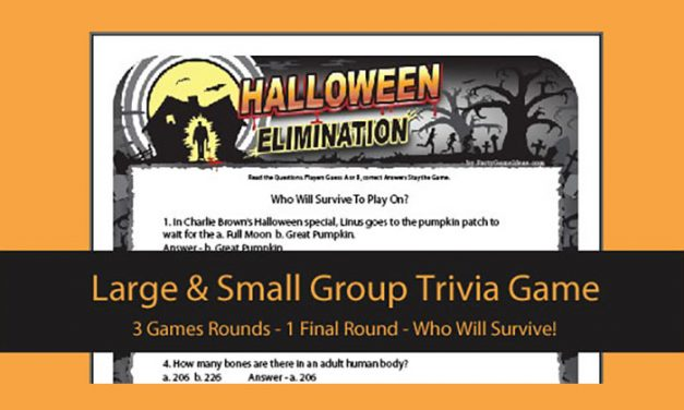 Halloween Elimination Trivia Game