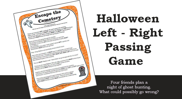 photograph about Free Printable Left Right Birthday Game titled Halloween Remaining Directly Recreation - Escape the Cemetery