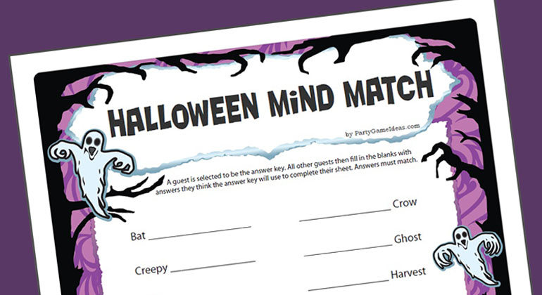 Halloween Mind Match Game