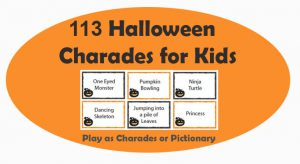 Kid's Halloween Charades Cards - Printable Party Game