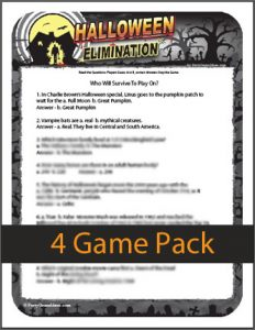 Printable Halloween Elimination Trivia Game