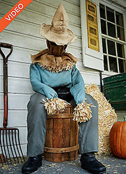 Creepy Sitting Scarecrow Animatronic