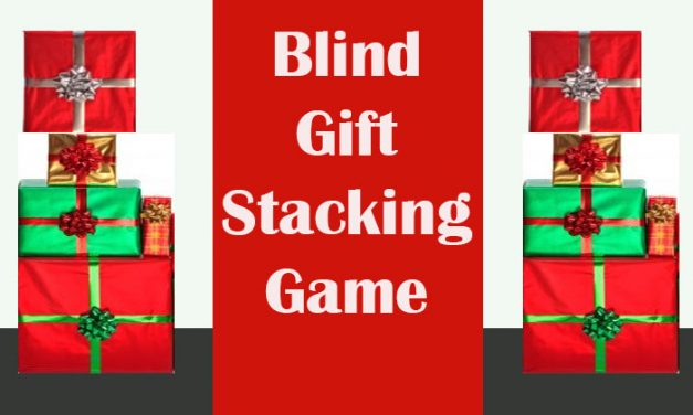 Blind Gift Stacking Game