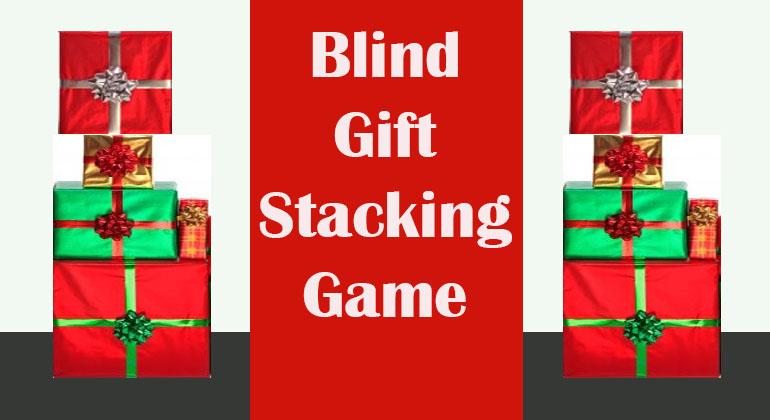 Blind Gift Stacking Game