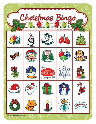 Christmas Bingo - Printable Bingo Games 12, 25, 40 Cards