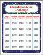 Christmas Quiz Challenge - Jeopardy Style Game