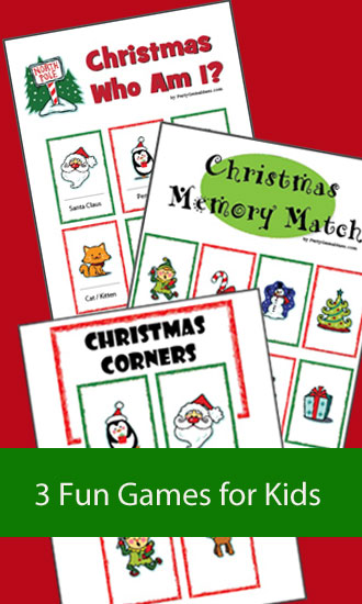 Christmas Memory Match - Christmas Kids 3 Game Pack