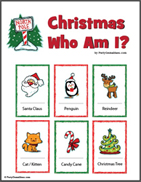 Kids Who Am I Christmas Party Game