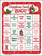 Christmas Carol Bingo Games
