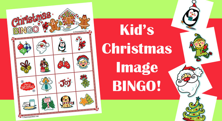 graphic about Holiday Bingo Printable identified as Xmas Picture Bingo for Youngsters - Printable Xmas Bingo