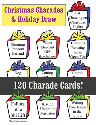 Christmas Charades - Printable Game