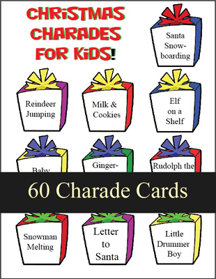 Christmas Charades for Kids - Printable Game