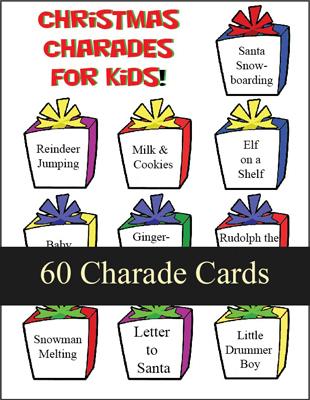 christmas charades for kids printable games