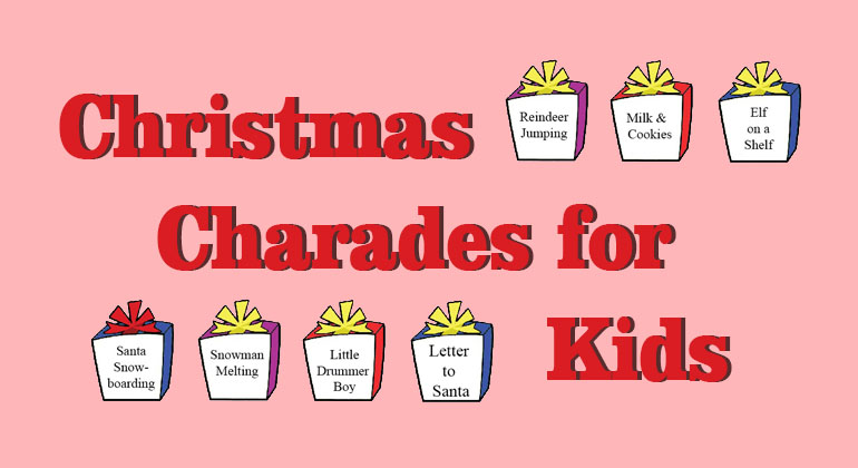 picture regarding Charades Printable identify Xmas Charades for Little ones - Printable Online games