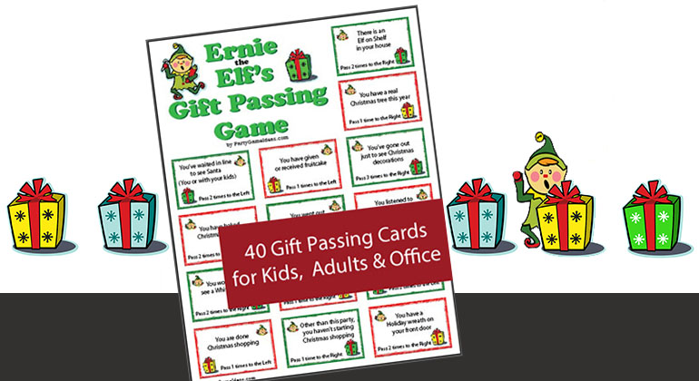 Ernie the Elf Gift Passing Game