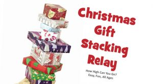 Christmas Gift Stacking Relay - Party Game