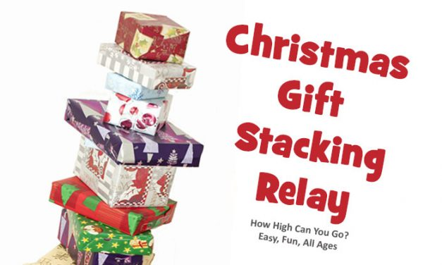 Christmas Gift Stacking Relay