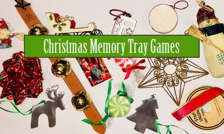 Christmas Memory Tray Game