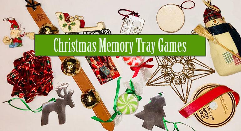 Christmas Memory Tray Game