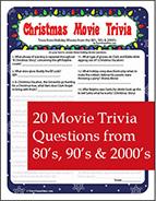 Christmas Movie Trivia Printable Game