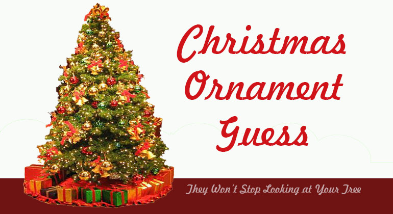 Christmas Ornament Guess Holiday Party Game