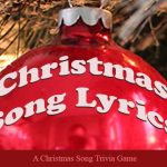 Christmas Song Lyrics Game