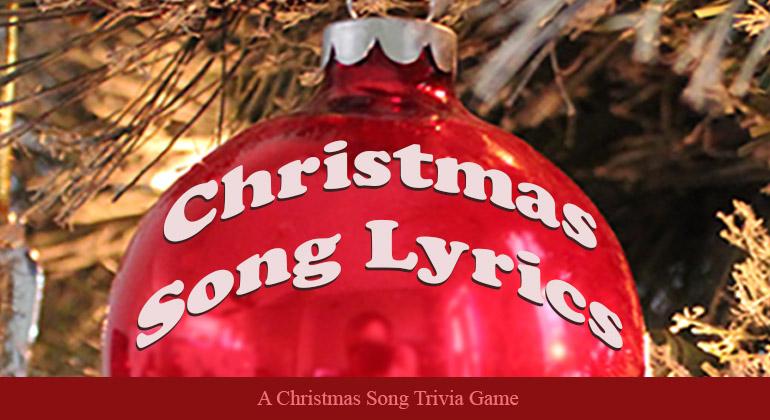 Christmas Song Lyrics Game