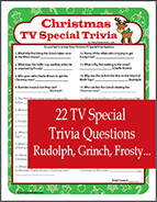 Christmas TV Cartoon Trivia Game