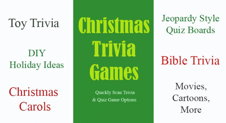 Christmas Trivia Games - Printable Christmas Party Games