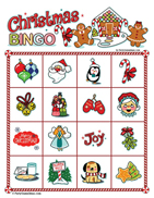 Christmas Image Bingo for Kids