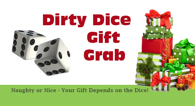 Dirty dice christmas gift grab game gift exchange game Good gifts for gift exchange